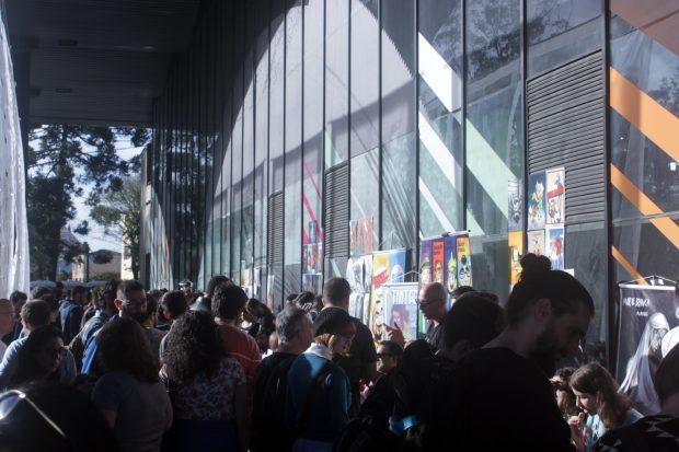 Área externa do evento.